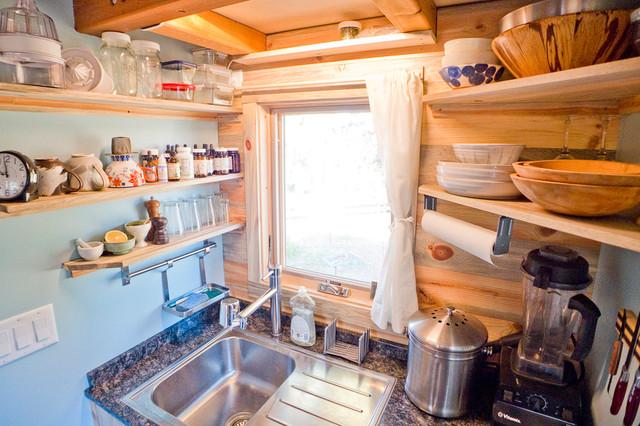 Tiny House Kitchen Sink Storage Modern Kueche