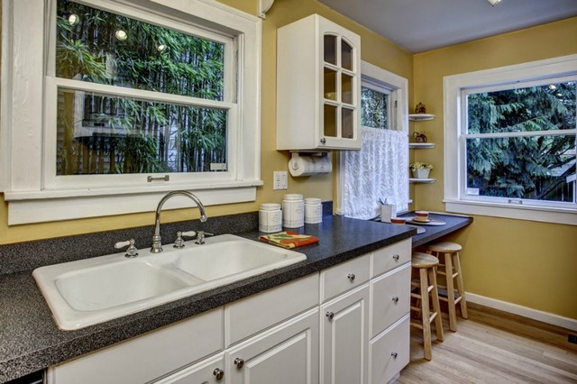 Tiny Phinney Ridge Cottage With Big Charm traditional-kitchen