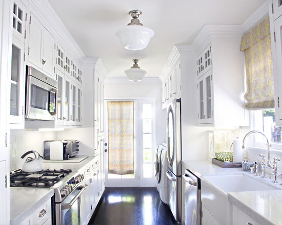 White Galley Kitchen Images white galley kitchen designs | fancy great galley kitchen design