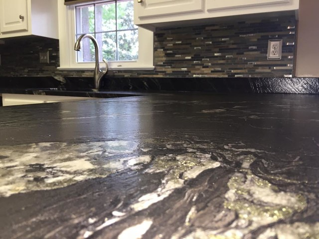 Titanium 3cm Leathered Granite Modern Kitchen