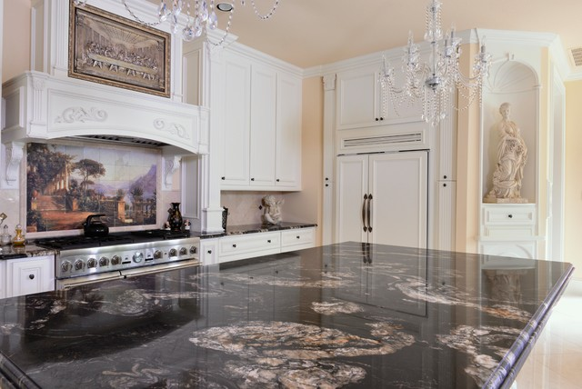 Titanium Granite Kichen Traditional Kitchen Dallas By Levantina USA