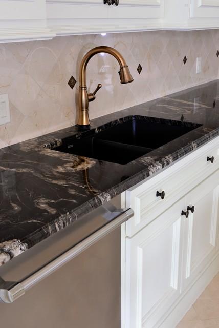 Titanium granite kichen - Traditional - Kitchen - Dallas - by ...