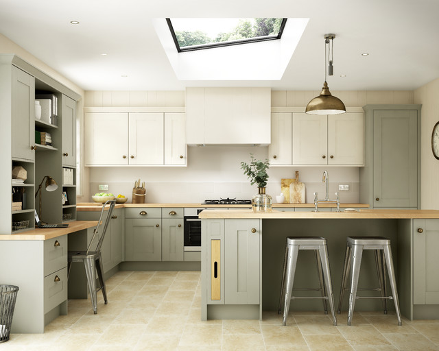 Tiverton Bone Transitional Kitchen Other By Wickes
