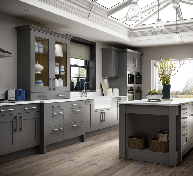 Tiverton Slate Kitchen Contemporary Kitchen Other By Wickes