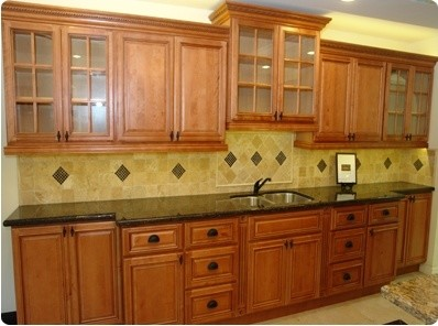 Toffee Glaze Kitchen Display - Traditional - Kitchen - Other - by GreatBuyCabinets.com