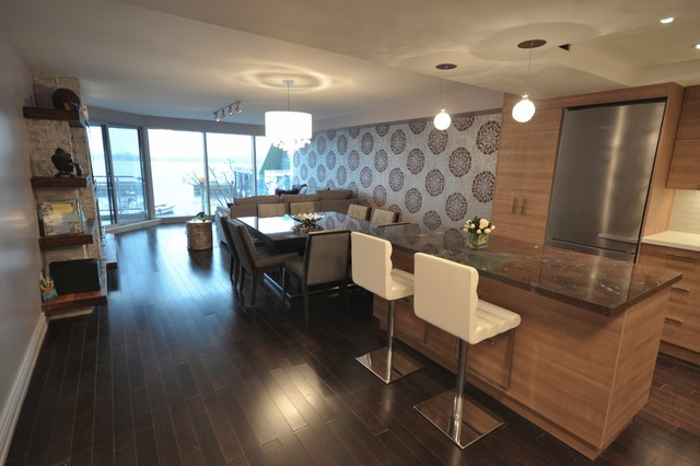 Toronto lakefront condo contemporary kitchen other for Interior designs by rhonda