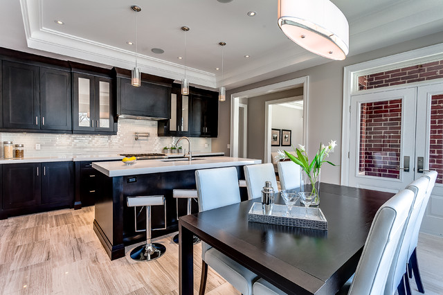 Toronto Mini Mansion Contemporary Kitchen Toronto