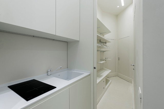 Total white house in Brera - Contemporaneo - Cucina - New York ...