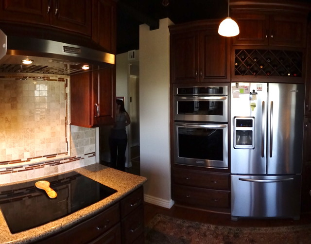 Tourney cabinet job traditional kitchen houston by