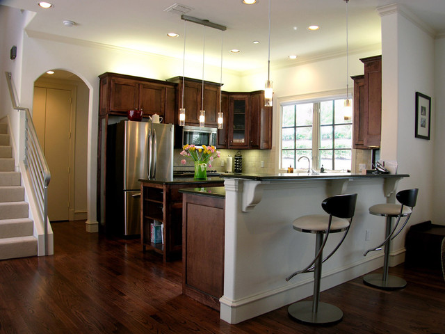 Townhome traditional-kitchen