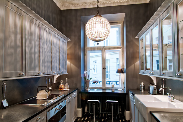 Townhouse Apartment Traditional Kitchen New York By FJ Interior Design