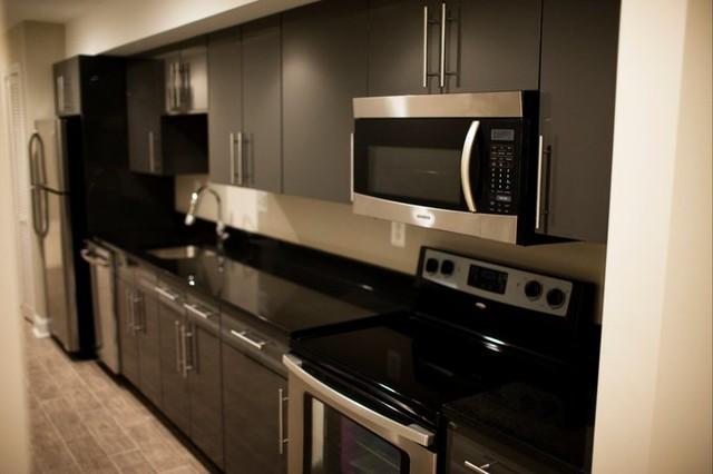 townhouse basement galley kitchen contemporary kitchen new york