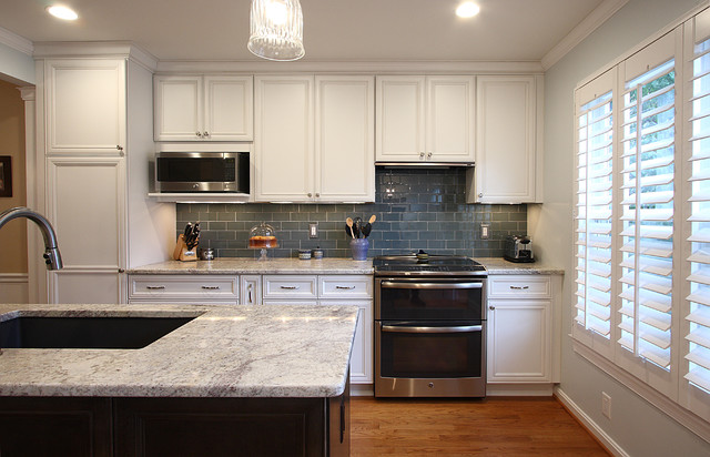 Good Townhouse Kitchen Remodel | Bianco Romano Granite Traditional Kitchen