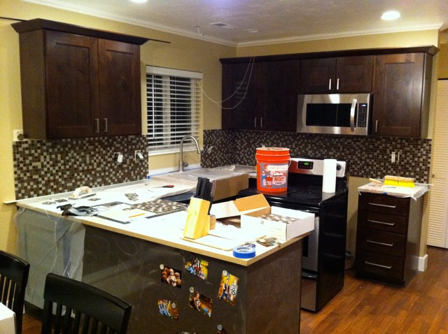 Townhouse Kitchen Remodel Transitional Kitchen