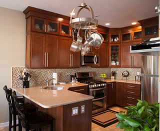 Townhouse kitchen remodel - Transitional - Kitchen - New ...