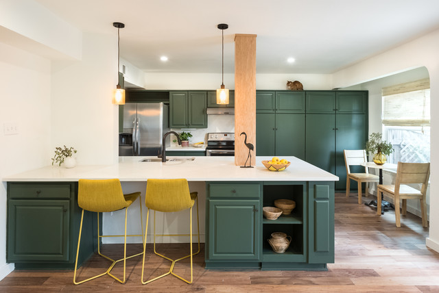 Townhouse Remodel Transitional Kitchen Austin By