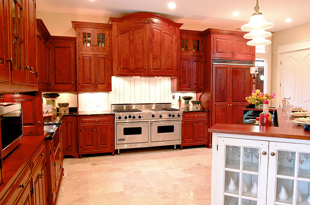 Traditional Cherry Kitchen Dayton Ohio Traditional Kitchen Other By The Workshops Of