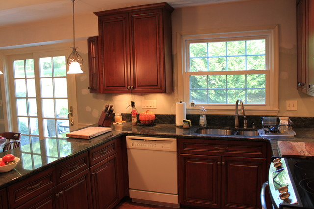 Traditional Cherry Kitchen with Granite and Custom Features in Darnestown, MD traditional-kitchen