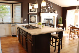 Traditional Chocolate & Cream Kitchen traditional-kitchen