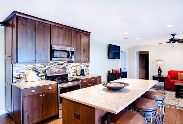 Traditional Dark Rustic Alder Kitchen traditional-kitchen