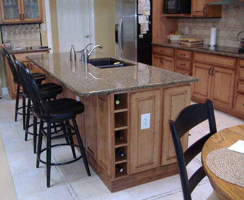 Desert Brown Kitchen Granite Countertops Design Ideas