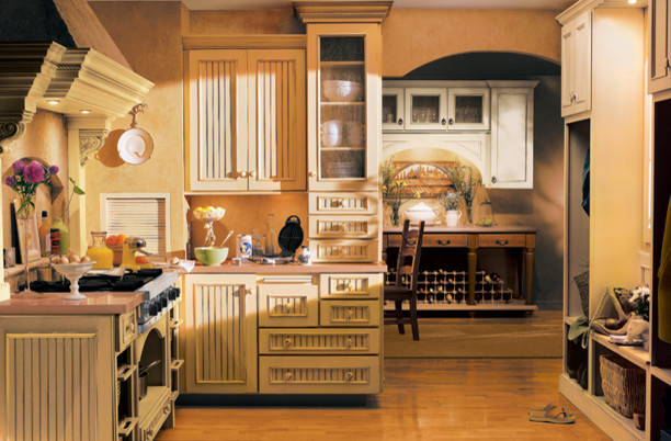 Traditional french country with modern flair rustic for Traditional rustic kitchen design