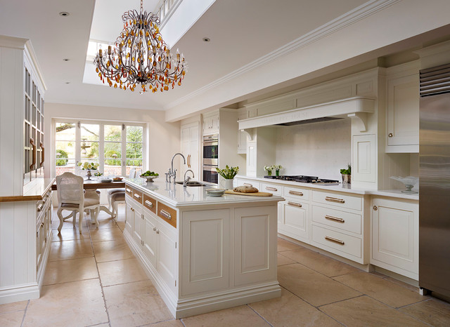 traditional hand painted kitchen english classic style