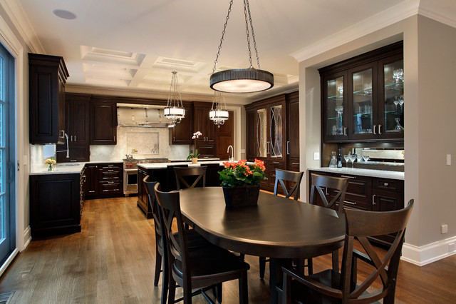Traditional Home Remodel with Dark Cherry Kitchen traditional-kitchen