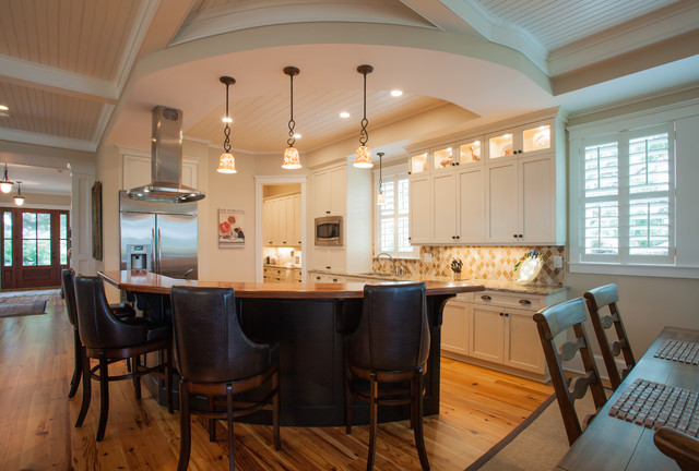 traditional island home round kitchen traditional