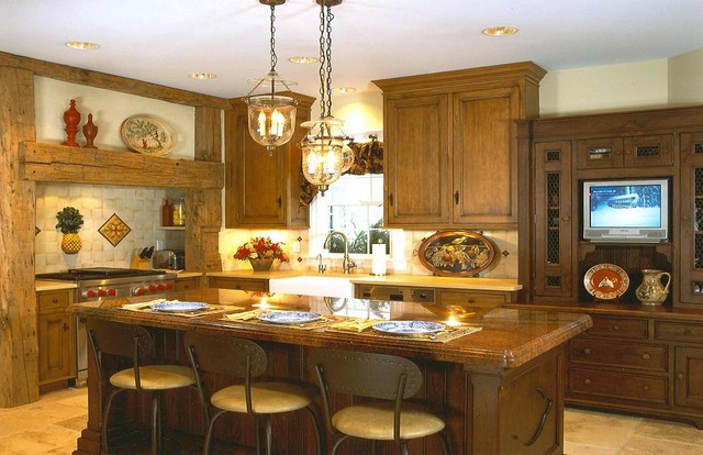 Traditional Rustic Kitchen New York By Jefferson Design