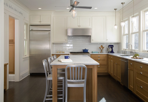 Two Tone Kitchen 2-toned kitchens - trendy? too much for small spaces?