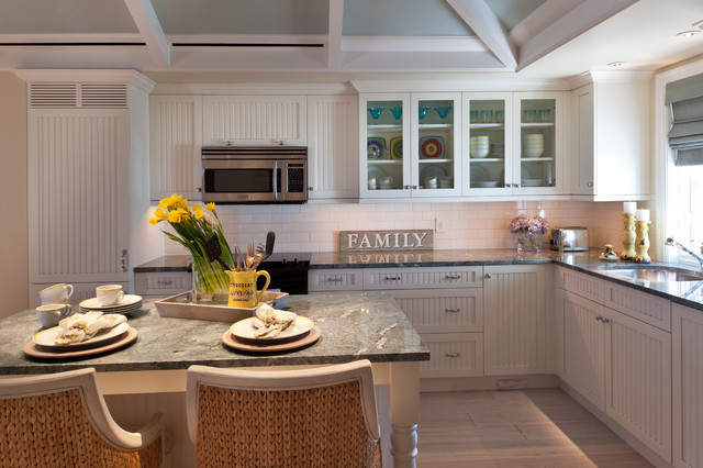 beadboard kitchen cabinets. Inspiration for a timeless kitchen remodel in Tampa with an undermount  sink recessed panel White Beadboard Kitchen Cabinets Houzz