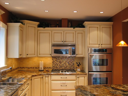 Are The Cabinets Refurbished With Just Crown Molding On Top And Front