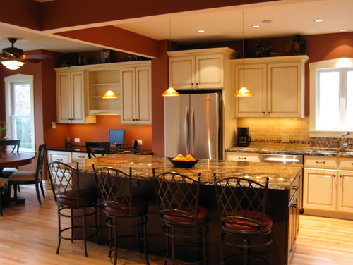 rust colored kitchen by amish custom kitchens more info