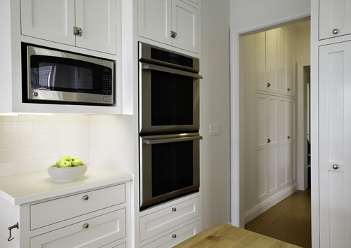 What is the cabinet depth where the microwave is located?
