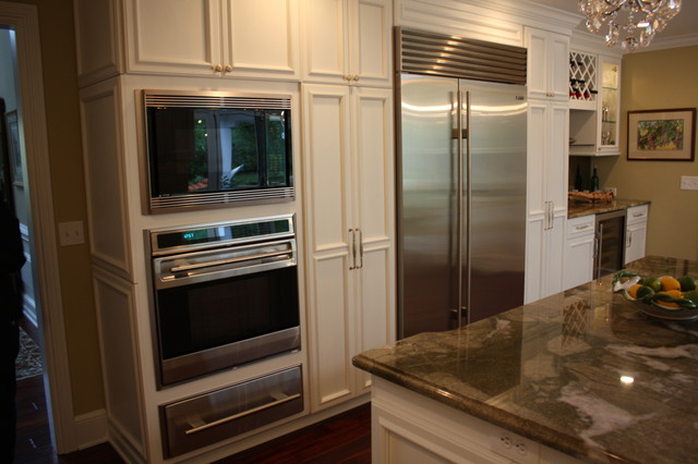 built in appliances traditional kitchen cleveland
