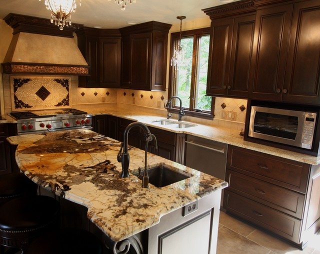 Exotic Granite Counter - Traditional - Kitchen - cleveland - by Architectural Justice