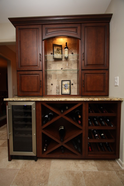 Wine Cabinet Traditional Kitchen Cleveland By Architectural