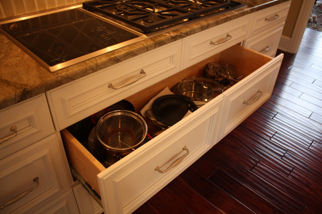 deep pan drawer traditional kitchen cleveland by