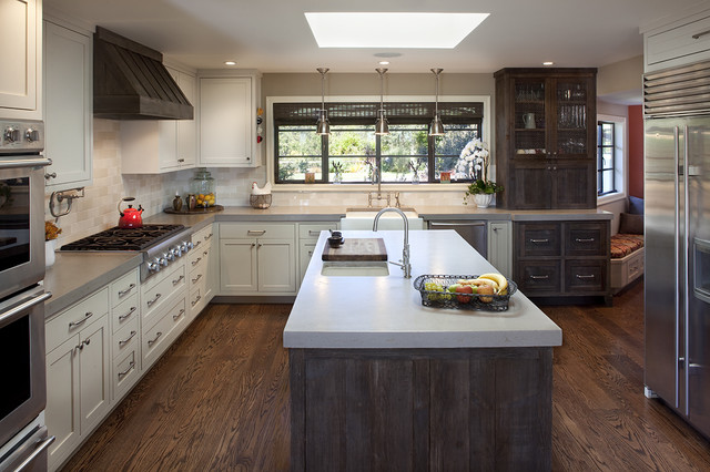 Portola Valley residence traditional kitchen