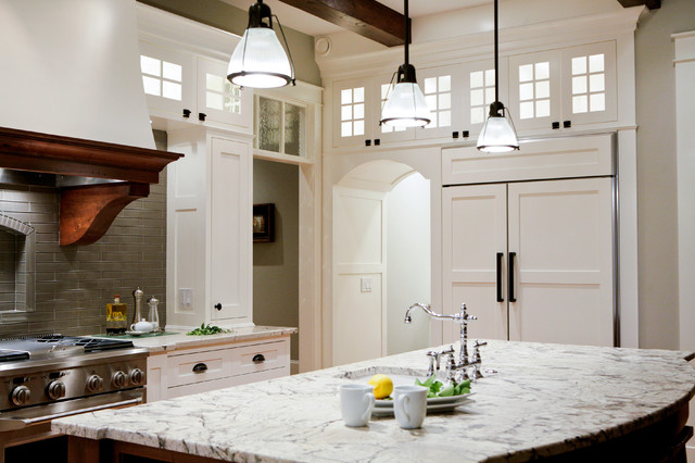 Traditional Kitchen Cabinets Granite Countertop Lighting