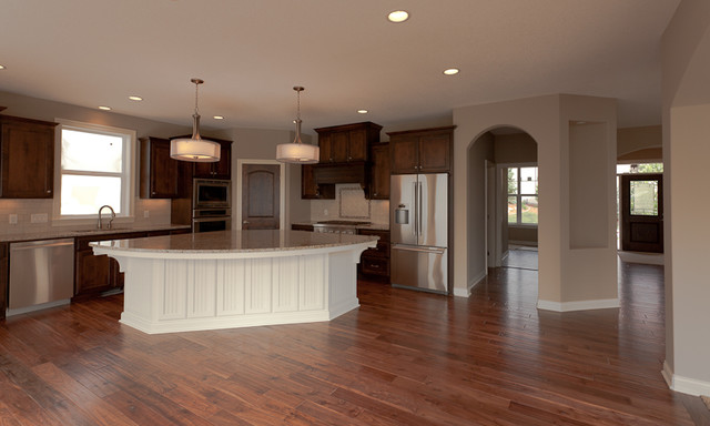 Harrison model home kitchen traditional kitchen minneapolis by che bella interiors Model home furniture auction mn