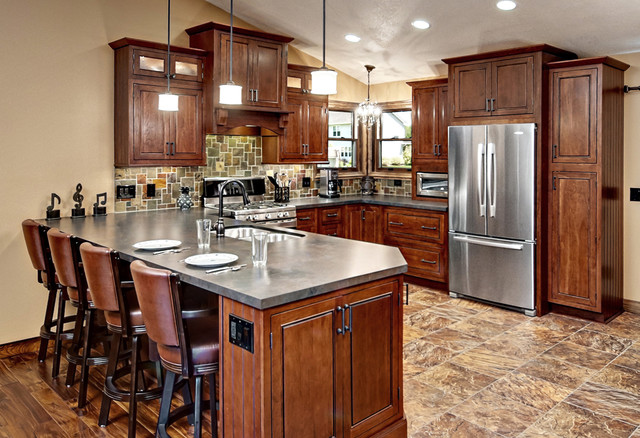 Beautiful Cherry Inset Kitchen - Traditional - Kitchen - Minneapolis - by CliqStudios