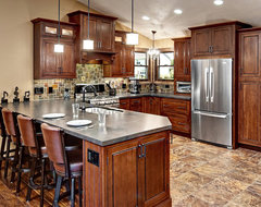 Beautiful Cherry Inset Kitchen traditional kitchen