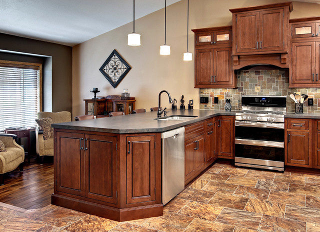 Beautiful Cherry Inset Kitchen - Traditional - Kitchen - minneapolis - by CliqStudios Cabinets