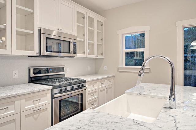 Craftsman Style White Kitchen Remodel