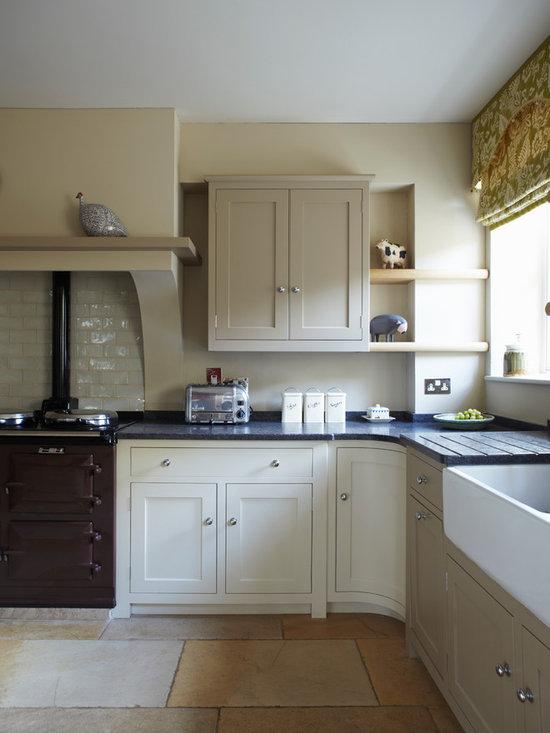 Chimney Breast Kitchen Design Ideas Remodels &amp Photos - Faux Brick Backsplash In Kitchen