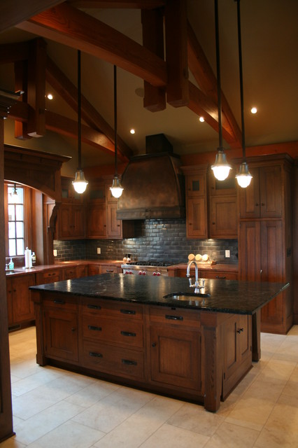 Wheaton Manor traditional kitchen