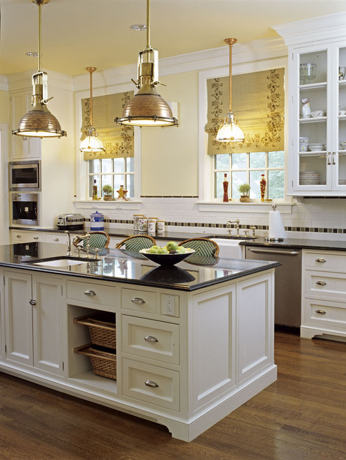 23 backsplash ideas white cabinets dark countertops - Traditional kitchen design images ...