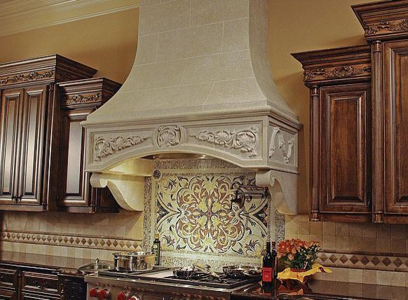 Marie Antoinette kitchen range hood - Francois & Co traditional-kitchen